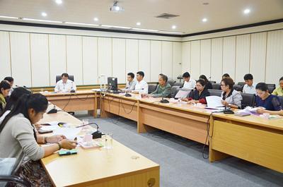 ศูนย์ประสานงานจัดหางานให้บัณฑิต จัดประชุมรายงานผลการดำเนินงาน